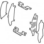 Пластины противоскрипные (комплект на передние колодки) Nissan Teana L33 (Ниссан Теана L33-J33)