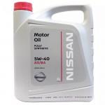 Моторное масло Nissan 5W40 (5л) (оригинальное масло ниссан синтетика ) (Ниссан Альмера Классик B10)