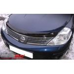 Дефлектор капота (мухоотбойник) темный (EGR) Nissan Almera Classic B10 (Ниссан Альмера Классик B10)